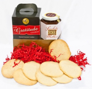 Gratitude Cookies & Chocolate sauce
